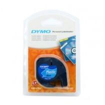 DYMO 91205 Letra Tag 機用標籤帶 (藍底黑字)