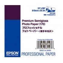 EPSON S041393 PREMIUM SEMIGLASS PHOTO PAPER 24INCH  X 30.5M
