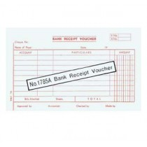 1785A 大本英文傳票 - BANK RECEIPT