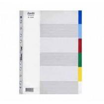 辦得事 6006 A4 六級彩色膠質分類索引 (加厚)