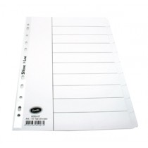 辦得事 6050 A4 十級全白色分類索引 (紙質)