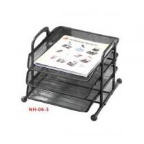 金馬 NH-06 金屬網紋三層文件盤