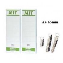 MIT  A4 3-D圈三面插咭活頁夾 65mm - 白色