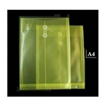 A4 透明有繩公文袋 - 黃色
