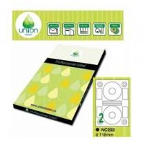 UNION 多用途標貼  NC202-100 118mm CD專用 (1張2個)