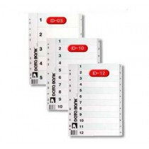 DATA BANK  ID-12 A4 膠質分類索引 ( 1-12 )