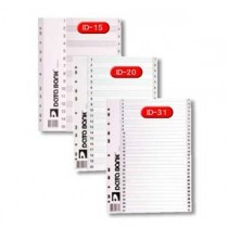 DATA BANK  ID-20  A4 膠質分類索引 ( 1-20 )