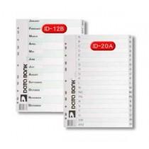DATA BANK  ID-12B  A4 膠質分類索引 ( JAN- DEC )