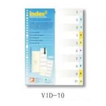 DATA BANK  VID-10  A4 膠質分類索引 ( 1-10 )