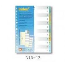 DATA BANK  VID-12  A4 膠質分類索引 ( 1-12 )