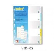 DATA BANK  VID-05  A4 膠質分類索引 ( 1-5 )