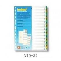 DATA BANK  VID-31  A4 膠質分類索引 ( 1-31 )