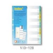 DATA BANK  VID-12B  A4 膠質分類索引 ( Jan-Dec )