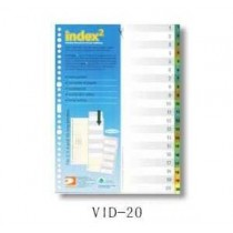 DATA BANK  VID-20  A4 膠質分類索引 ( 1-20 )