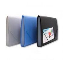 F4 實色風琴文件袋 - 藍色