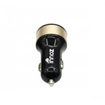 "INNOZ XQ2 2-Port 30W 5.4A ""Quick Charger 3.0"" USB Car Charger - Black + Gold (CC-XQ2BKGD)"