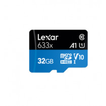 LEXAR MICROSDHC 633X 32GB W/SD ADAPTER (LSDMI32GBBAP633A)