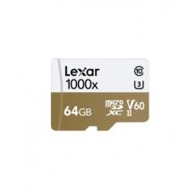LEXAR MICROSDXC 1000X 64GB W/USB 3.0 CARD READER U3 V60 UHS-II (LSDMI64GCBAP1000R)