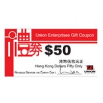 Union Enterprises Cash Coupon $50